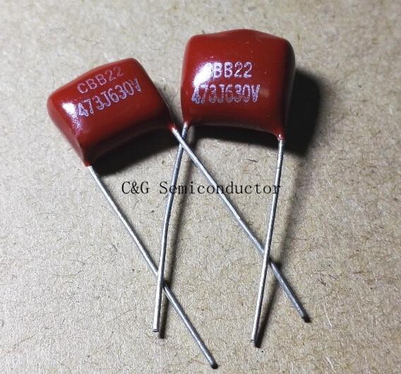 10pcs CBB 104J 630V 100NF 0.1UF P10mm Metallized Film Capacitor LY