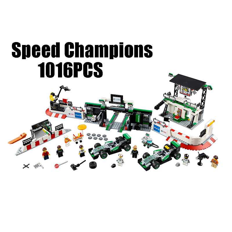 Compatible with Lego Technic 75883 28006 1016pcs AMG PETRONAS FORMULA ONE TEAM building blocks Bricks toys for children compatible with lego technic creative lepin 24011 1344pcs 3 in 1 highway transport building blocks 6753 bricks toys for children