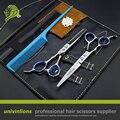"""6.0 """"440C левая рука ножницы левой рукой парикмахерские ножницы левой рукой ножницы для левша ножницы парикмахера комплект с подарком"""