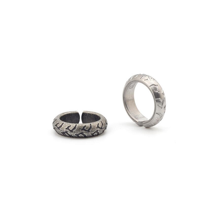 Vintage Edelstahl Die Manner Der Reifen Venen Ein Ring Hochzeit