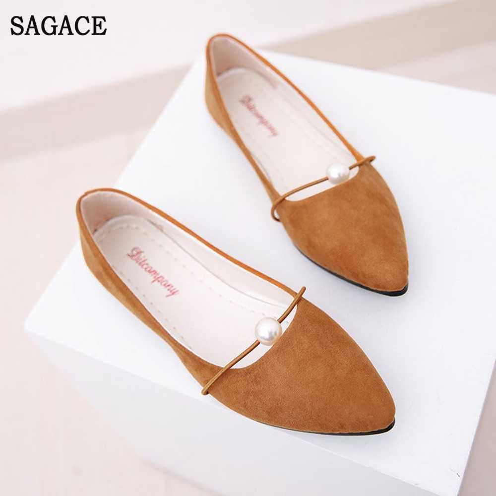 SAGACE femmes mode élégant dames plat unique chaussures mocassins décontractés femme paresseux chaussures confortables talons bas sans lacet chaussures