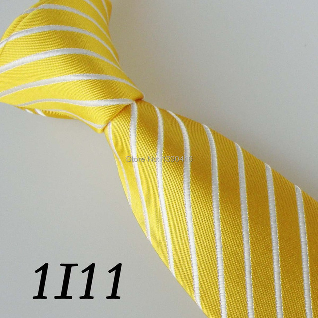tie Gold and white striped