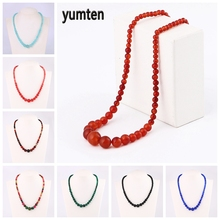 Yumten Beads Chain Choker Tower Chain Necklace Graduated Accessories Gift Female Reiki Jewelery Power Crystal Natural Stone цена 2017