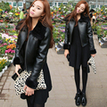 2016 winter women wool fur coat feminino black colour Genuine Sheep leather short winter jacket coats Mujer casacos de inverno