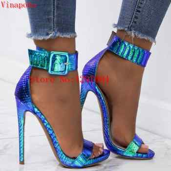 platform sandals extrem high heels shoes women heels ankle strap heels sandals women wedding shoes office snake print sandals - DISCOUNT ITEM  40% OFF All Category