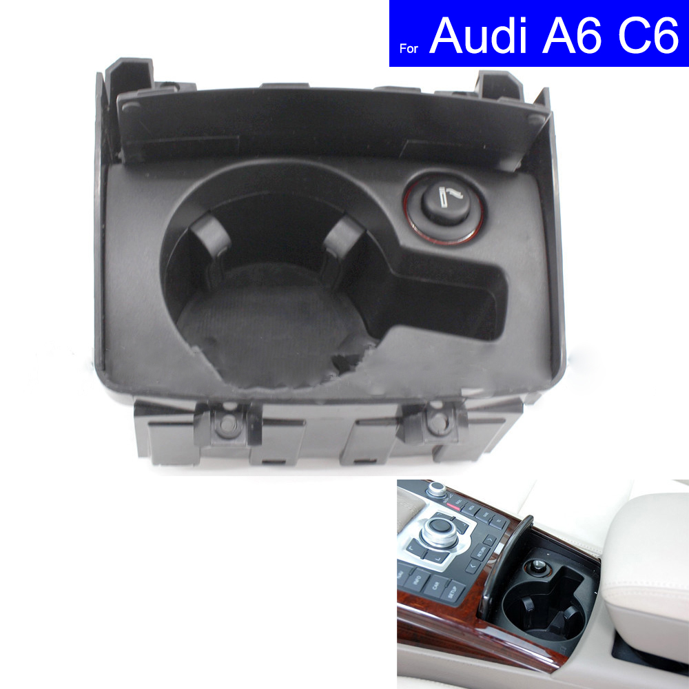 Front Auto Car Cup Holder Box Drinks Holders For Audi A6 C6 2006 2007 2008 2009 2010 2011 Folding Car Refit Parts 4F1 862 533CFront Auto Car Cup Holder Box Drinks Holders For Audi A6 C6 2006 2007 2008 2009 2010 2011 Folding Car Refit Parts 4F1 862 533C