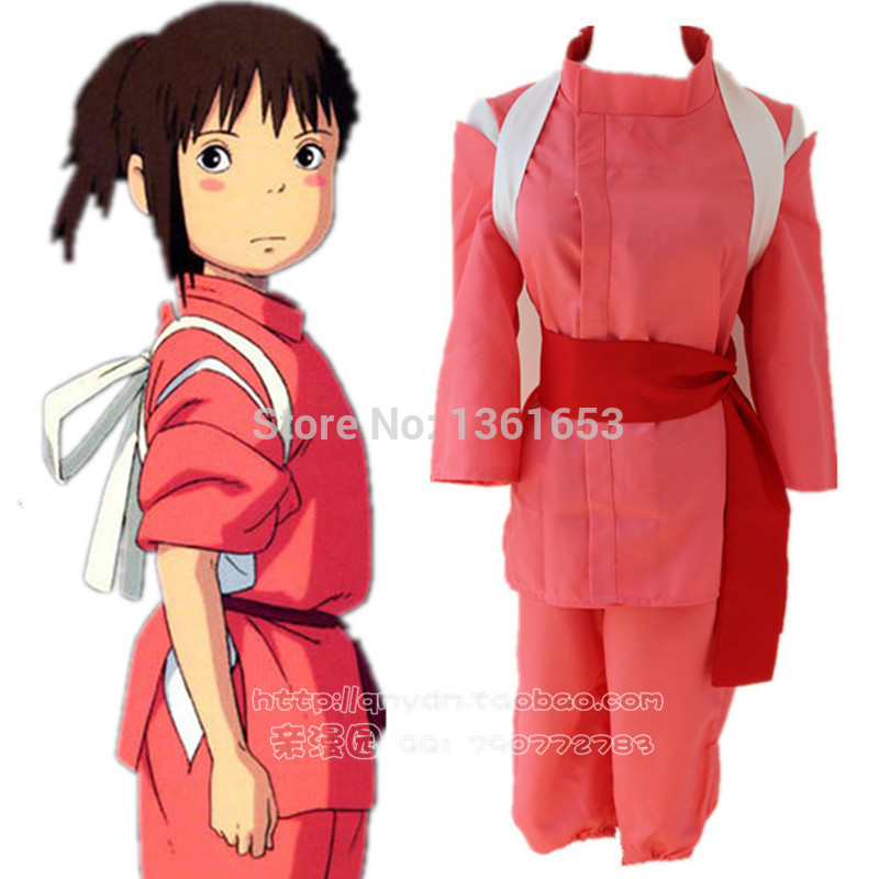 Buy Online Anime Spirited Away Cosplay Chihiro Cosplay Costume Kimono Suit Hallowean Party Costumes Clothing 25 Special Use Toys Street 18