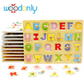 Wooden toys for children Number Letter Puzzles Learn Board Kids Toys For Baby Educational Toys  oyuncak