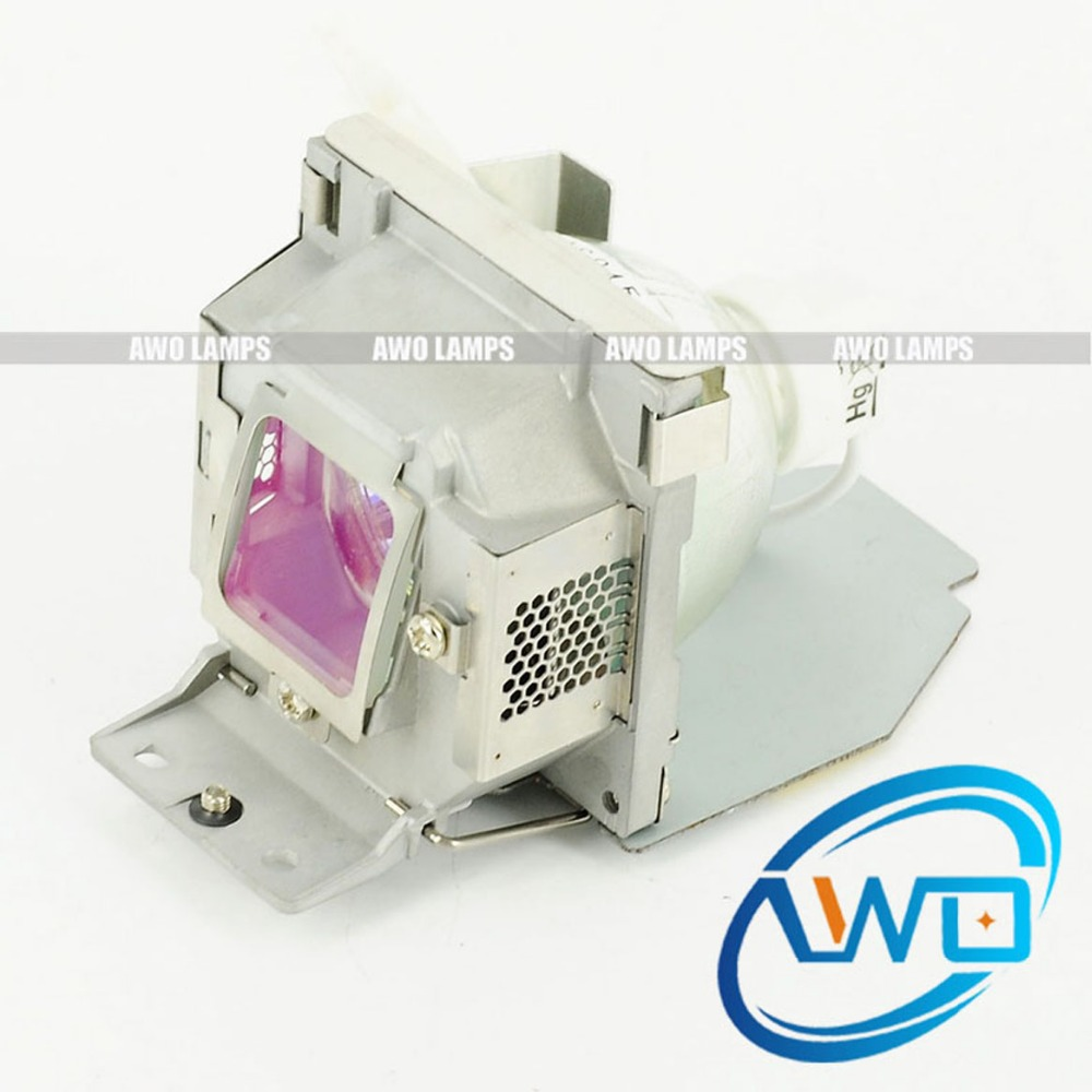 AWO Original Projector Lamp SHP132/DC-1 with housing RLC 056/RLC 055 for VIEWSONIC PJD5231/PJD5122/PJD5152/PJD5352 rlc 055 lamp with housing for viewsonic pjd5122 pjd5152 pjd5352 180days warranty