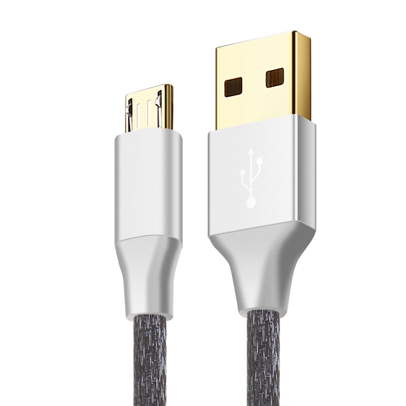 Suntaiho Micro Usb Charger Cable 24K Gold-plated Nylon Braided Fast Data Cable For Samsung/Xiaomi/Meizu/Huawei/HTC android devic