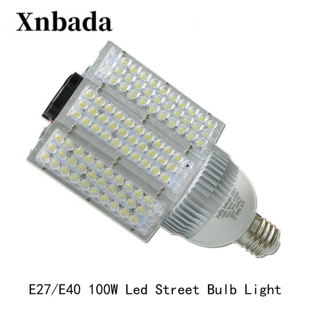 100 W E40 E27 lampadaire LED haute puissance lampadaire extérieur économie d'énergie LED ampoule 180 degrés lumière AC100-305V livraison gratuite