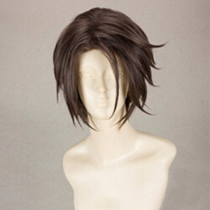 Image 2 - Final Fantasy FF8 Squall Leonhart Short Brown Heat Resistant Hair Cosplay Costume Wig + Free Wig Cap