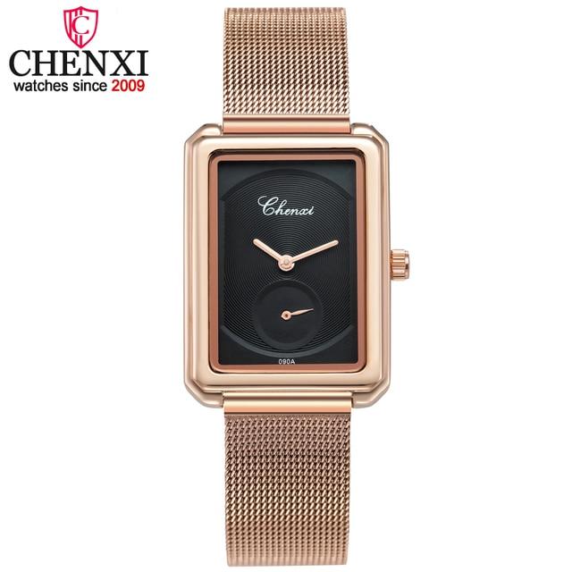 CHENXI Brand Luxury Gold Women Watches Steel Quartz Ladies Rose Bracelet Watch C