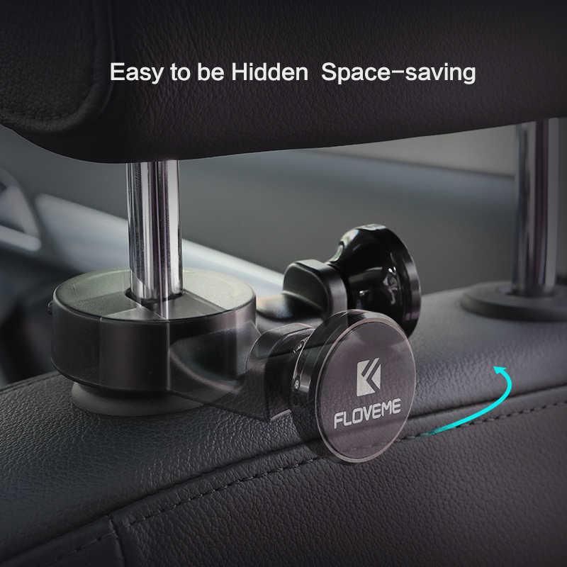 FLOVEME משענת ראש הוק מחזיק טלפון לרכב הר 360 סובב רכב מגנטי 5S מחזיק מעמד מחזיק Tablet טלפון עבור iPhone SE 5 6 7 iPad