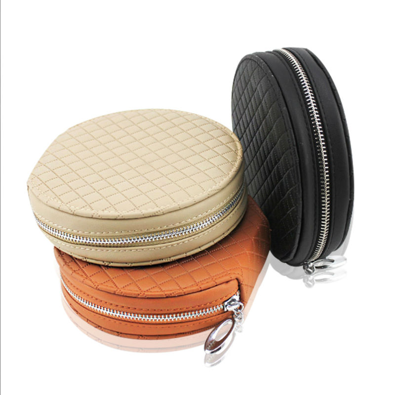 PU Leather 20 Piece Capacity Disc CD DVD Allbum Storage Media Case Bag Wallet Holder for Car Home Office