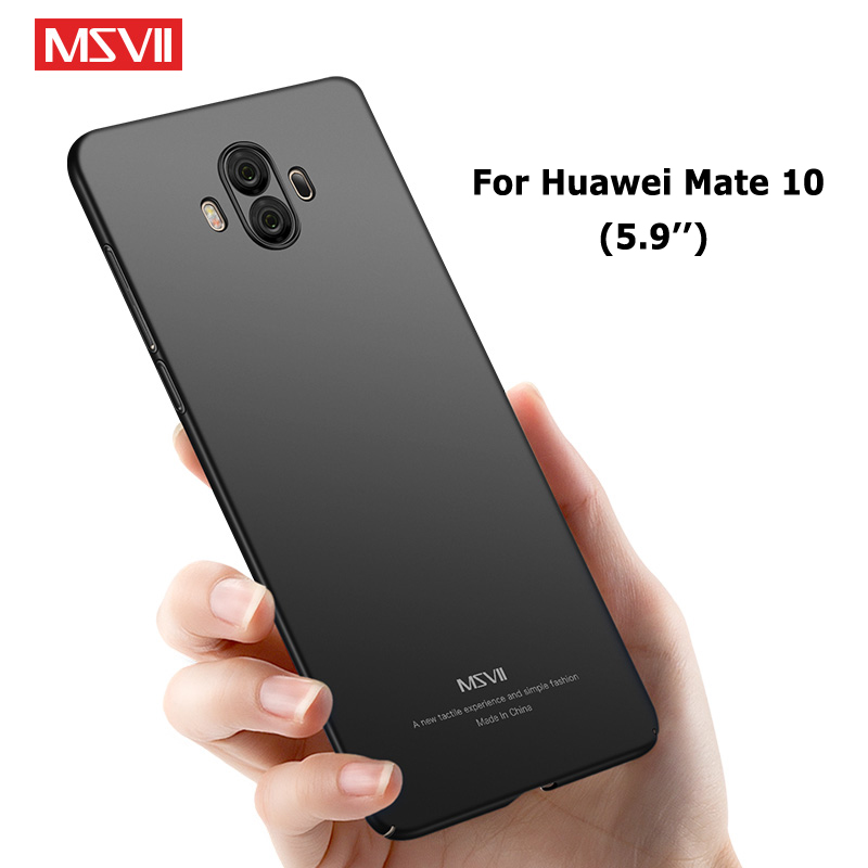 Msvii Cases huawei mate 10 case Silm scrub cover huawei mate 10 lite case mate10 hard pc Bakc cover For huawei mate 10 pro case