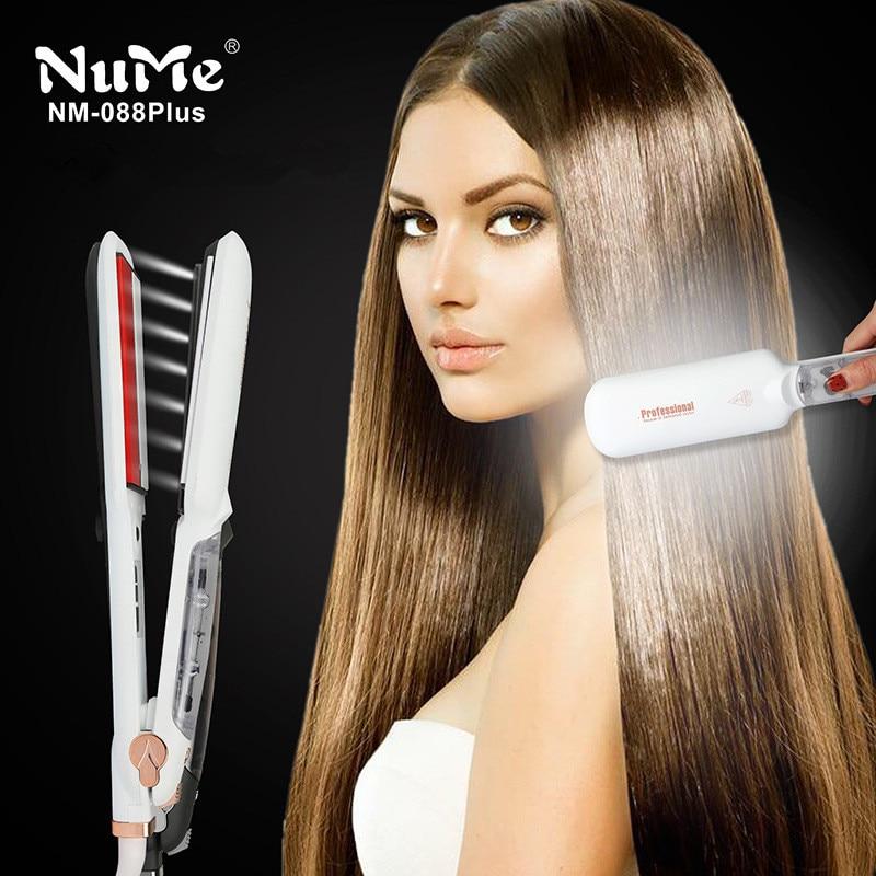 chapinha Professional Steam Hair Straightener Ceramic Vapor Infrared Heating Flat Iron Steampod 2 Inch Straightening Iron