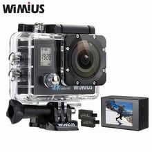 Wimius Q4 Wi-Fi 4 К Ultra HD Видео действие Камера двойной Экран 16mp 170d супер-Широкий формат Спорт шлем CAM go Водонепроницаемый 40 м Pro