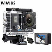 WiMiUS Q4 Wifi 4K Ultra HD Video Action Camera Double Screen 16MP 170D Super-Wide Angle Sports Helmet Cam Go Waterproof 40M Pro
