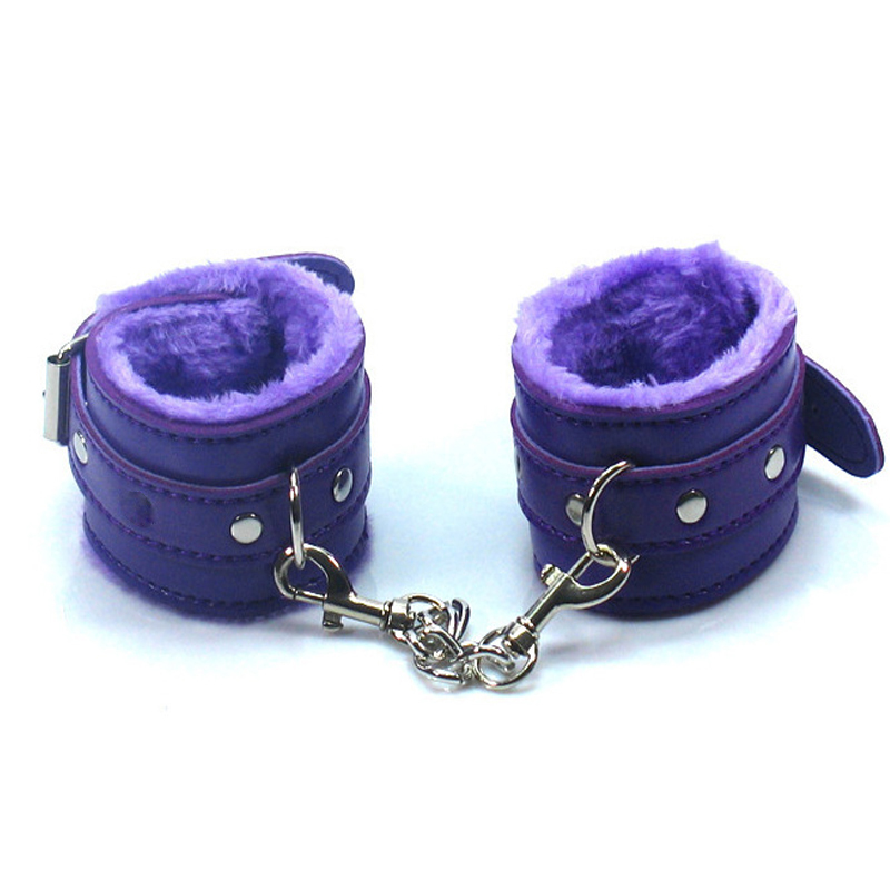Sex Game Handcuffs PU Leather Restraints Bondage Cuffs Roleplay Tools Sex toys for Couples 4 Colors