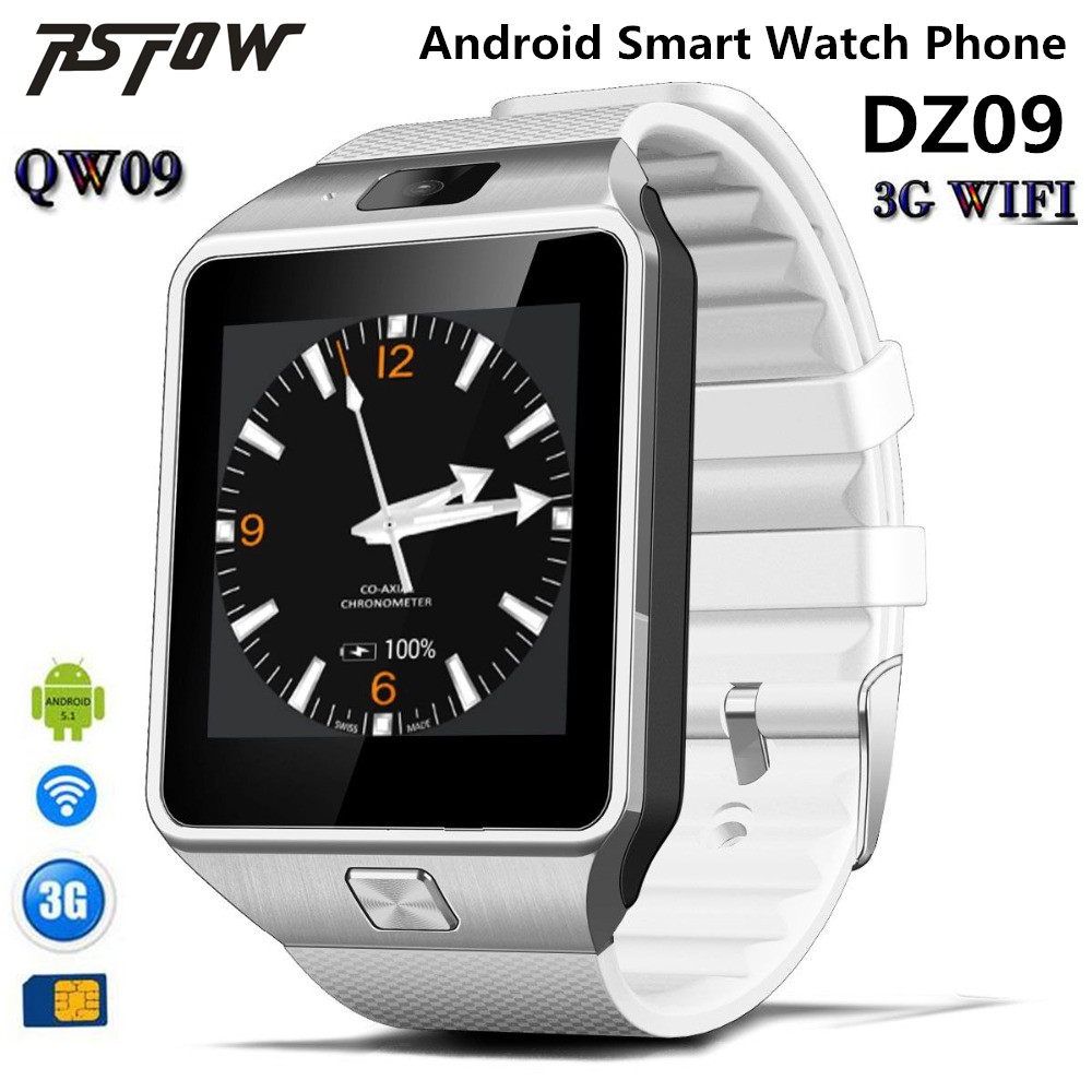 RsFow QW09 Smart watch DZ09 Android Upgrade Bluetooth Mobile phone Smartwatch Support Wifi 3G SIM Card Play Store Download APP 696 bluetooth android smart watch gt08 plus support camera nano 3g sim card wifi gps google map google play store wristwatch