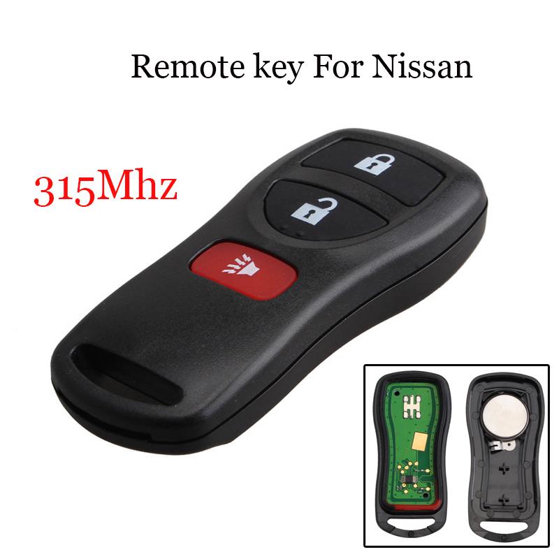 315Mhz 3 Buttons Replacement Keyless Entry Remote Fob Transmitter Alarm Control For Nissan KBRASTU15 28268-ZB700 28268-C990A315Mhz 3 Buttons Replacement Keyless Entry Remote Fob Transmitter Alarm Control For Nissan KBRASTU15 28268-ZB700 28268-C990A