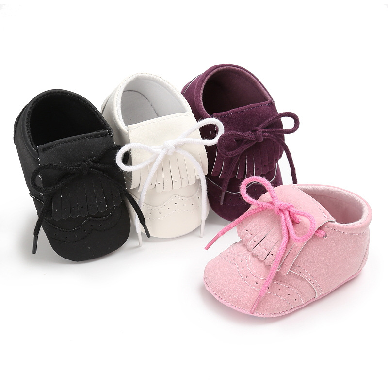 PU Leather Infant Toddler Crib Baby Girls Prewalker Shoes Newborn Spring Autumn First Walkers with Tassel 88 NSV775