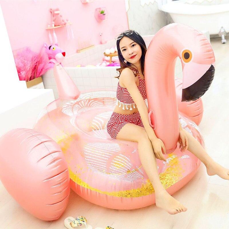 Flamant gonflable piscine flotteur licorne gonflable anneau de natation adulte lit d'eau piscine fête flamant rose gonflable cercle de bain
