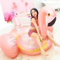Inflatable Flamingo Pool Float Unicorn Inflatable Swimming Ring Adult Water Bed Pool Party Flamingo Inflatable Swim Circle