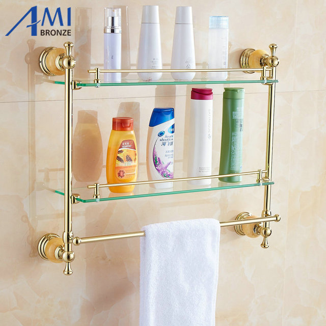 Aliexpresscom Buy Jade Series Golden Polished Double Bathroom - Bathroom accessories store near me