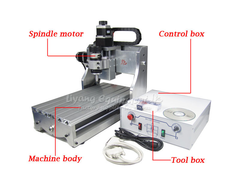! 3 axis Mini CNC Router 3020 with ball screw and 300W spindle