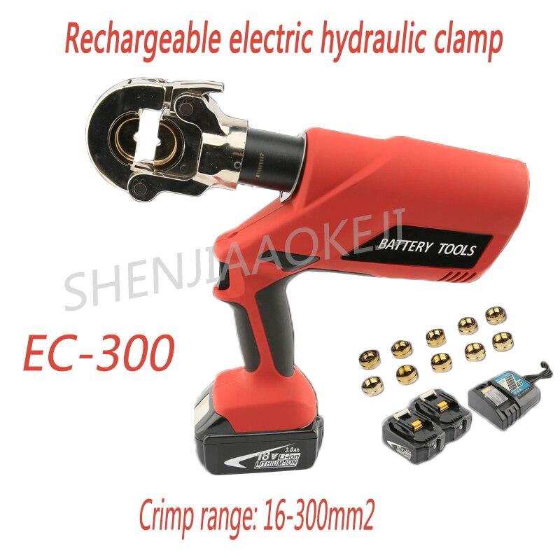1 pc EC-300 Carregamento Electro Friso Ferramenta Fio/Cobre/Alumínio Alicates 18 v 3Ah bateria do Ferro do Lítio