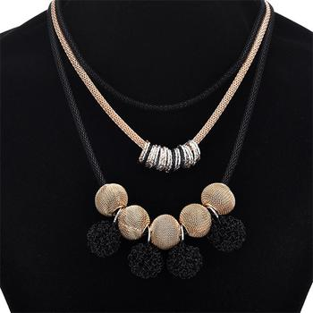 Pearl necklace collier femme collares statement Multilayer choker statement jewelry 3