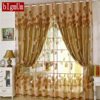 Luxury Modern Flowers Curtain Tulle French Window Embroidered For Living Room Blackout Cortina Window Treatments Top Quality