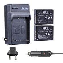 Tectra NP-W126 NP W126 Camera Battery 2PCS+ Digital Charger+Car Plug for Fujifilm X-Pro1 XPro1 X-T1 XT1 HS30EXR HS33EXR X PRO1