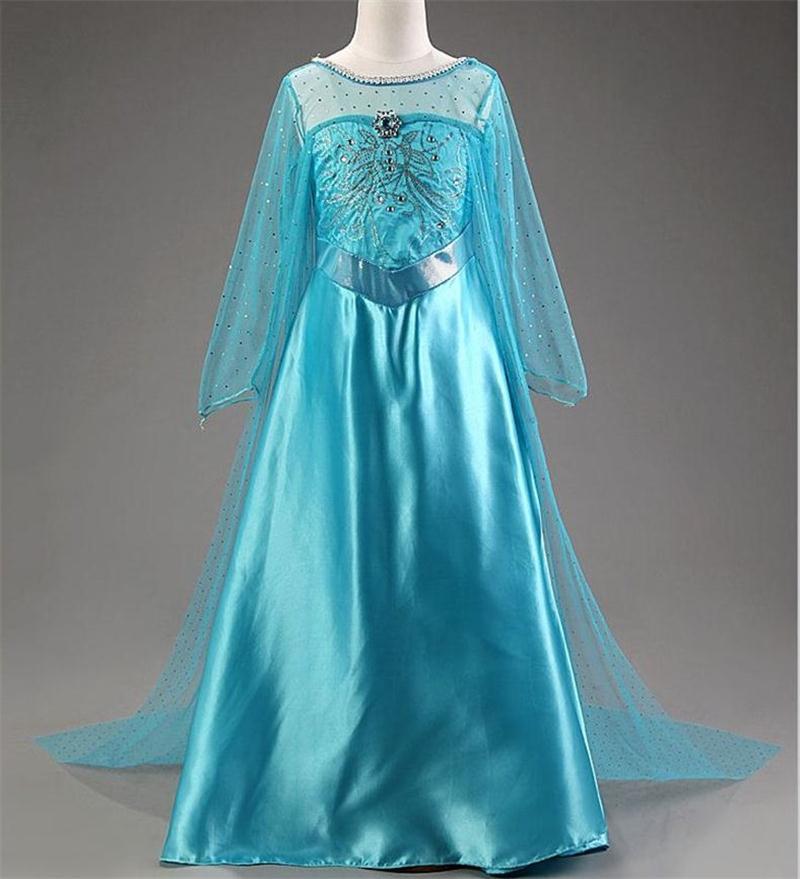 HTB1sXUPcvWG3KVjSZPcq6zkbXXaa Cosplay Queen Elsa Dresses Elsa Elza Costumes Princess Anna Dress for Girls Party Vestidos Fantasia Kids Girls Clothing Elsa Set
