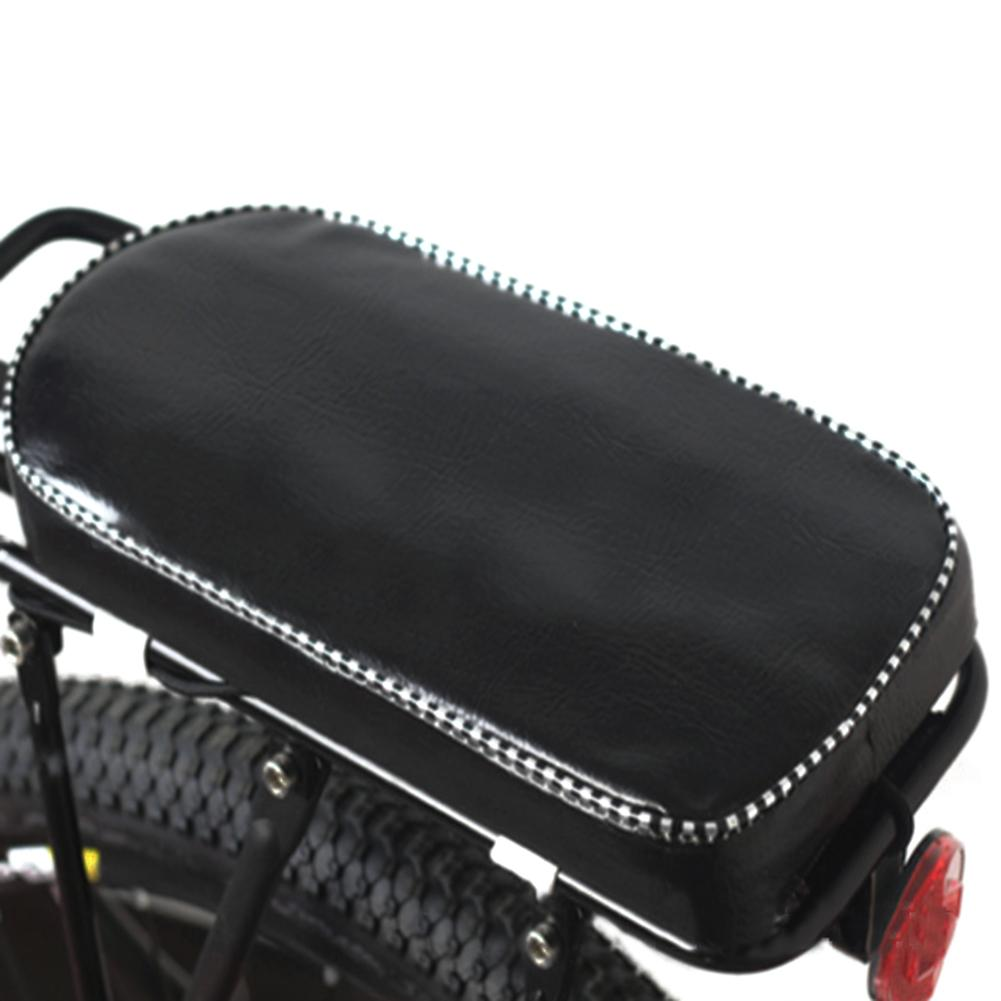 Bicycle Child Rear Seat Mat PU Leather Cover Bike Back Rack Cushion For Biking Seat With Back Saddle Cycle Accessories 31*15CM