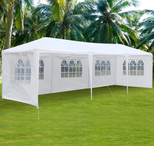 10u0027x30u0027 5 Windows Party Wedding Gazebos Outdoor Folding Awning Garden Canopy Patio Aluminum : garden tents and gazebos - memphite.com