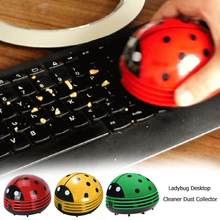 Multifunction ABS Cute Ladybug Desktop Vacuum Cleaner Dust Collector for Home Office Table Cleaning 2 X AA Batteries Ladybug(China)