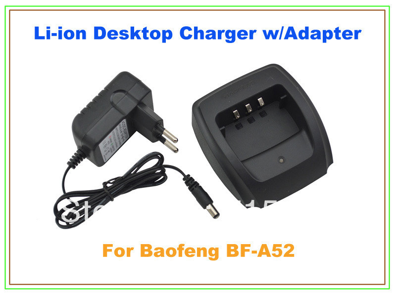 Li-ion Desktop Charger W/ Adapter For Baofeng BF-A52