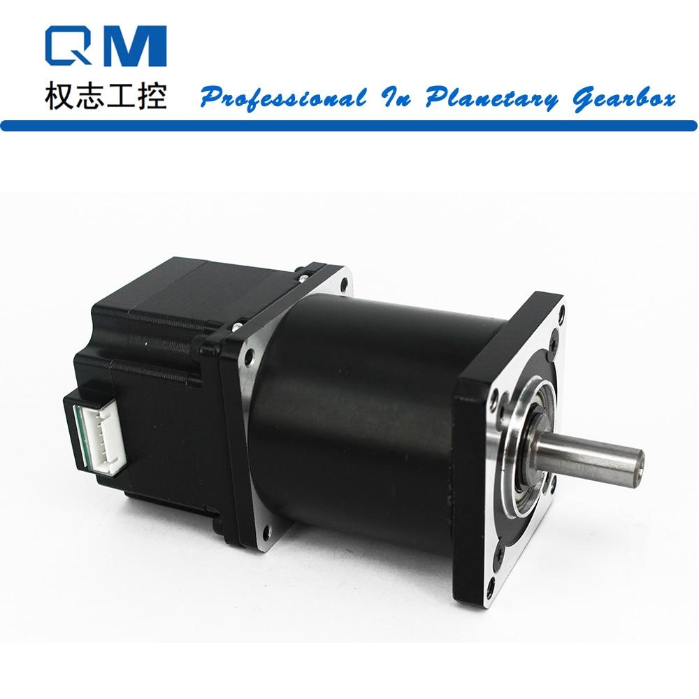 Nema 23 gear stepper motor L=42mm planetary reduction gearbox ratio 50:1 cnc robot pump nema23 geared stepping motor ratio 50 1 planetary gear stepper motor l76mm 3a 1 8nm 4leads for cnc router
