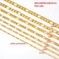 Bangrui7Size желтый Позолоченные Русский FederationBrazil Ожерелье Цепи Мужчины Женщины Ювелирные Изделия Позолоченные Цепи Оптовая