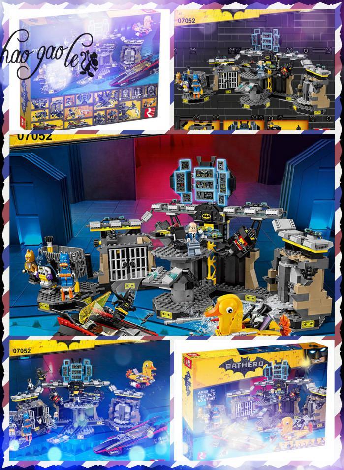 ФОТО hao gao le 07052 Genuine Batman Movie Series 70909 Batcave Break-in Building Blocks Bricks Education Kit Toys For Children