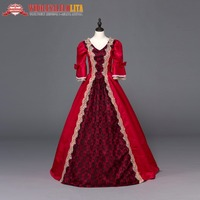 Brand New Red Southern Belle Victorian Wedding Ball Gown Dresses For Women