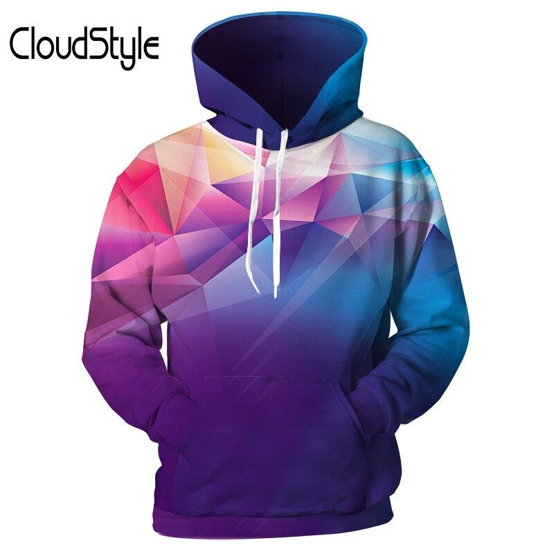 Cloudstyle Brand Mens Hoodies Multicoloured Sweatshirts 3D Printed Hoody Cool Tops New Men/Women Tracksuits Fashion Streetwear