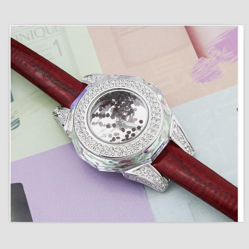 Melissa Brand Luxury Rhinestone Frame Women Dress Jewelry Watches