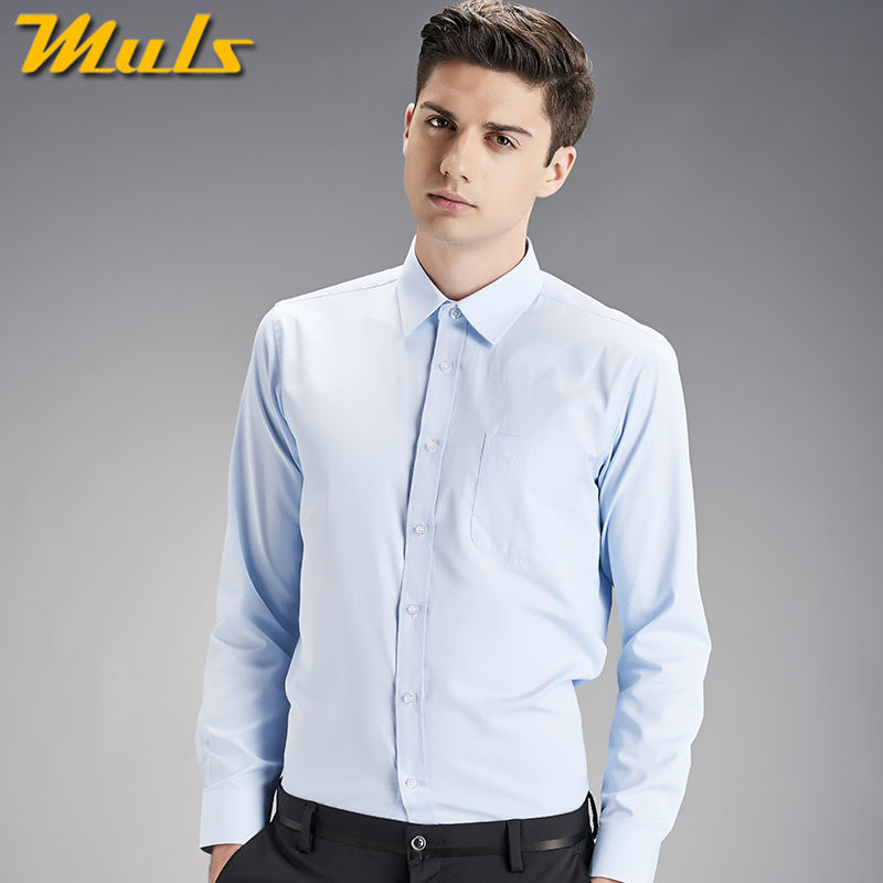 Aliexpress.com : Buy Shirts men plain color long sleeve Muls mens ...