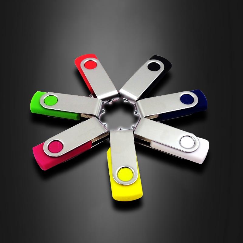 HOT! Pen Drive Pendrive 64GB 32GB 16GB USB Flash Drive Metal 4GB High Speed 128GB USB Stick Real Capacity USB 2.0 Free Shipping