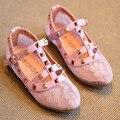 Лето Новый Стиль 2016 заклепки Детская Обувь кружева Обувь для Девочек принцесса обувь для детей на Весну или Осень #1753