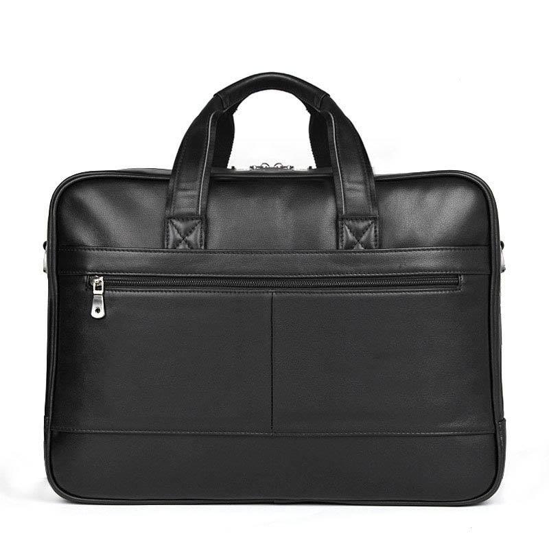 Men's Genuine Leather Casual Briefcase Handbag Men's Travel Bag Leather Messenger Bag Business Shoulder Computer Notebook Bag